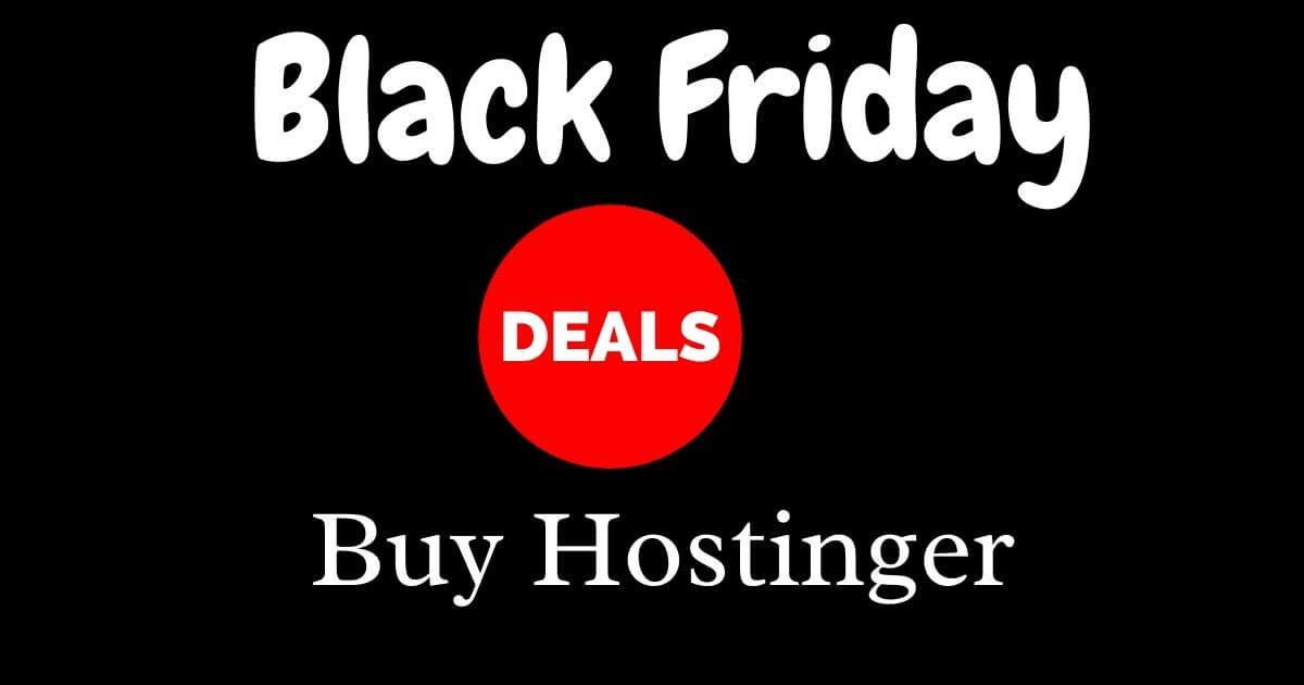 Hostinger Black Friday Deals 2020: Up to 90% Discount on Web Hosting till Cyber Monday image